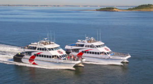 Provincetown high speed passenger ferries. These were the type of ferries, NCDOT used to test the feasibility of a Hatteras-Ocracoke passenger only ferry.