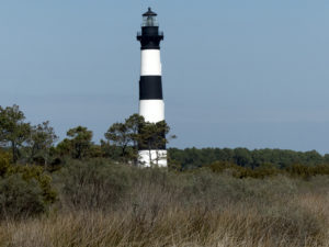 Bodie Island Lighthouse, completed in 1872, was built to the same plans as Cape Hatteras Light.