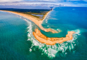 Shelly Island, the new island that has formed off the Cape Hatteras Point.
