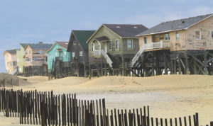 Condemned homes mark what was once Seagull Lane in Nags Head. Most of the homes have been demolished or removed after litigation. Photo, Kip Tabb